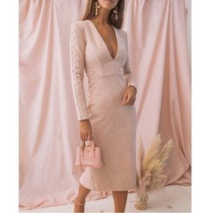MISHA COLLECTION Casadeia Dress Blush